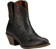 Womens Ariat Darlin Ankle Boot - Old Black Full Grain Leather - FREE Shipping & Exchanges   Shoebuy.com