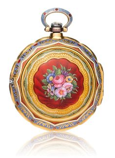 MARKWICK MARKHAM BORELL, LONDON GOLDEMAIL-SPINDELUHR um 1810.Gelbgold 750.Hochfeine Spindeluhr für
