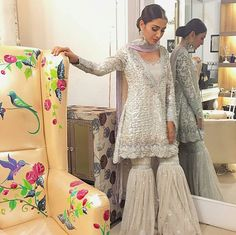 Ayeza Khan on the set of Eid Show Recording   Wearing by #SanaAbbasOfficial Styled by #AnilaMurtaza with Hair and makeup by #AkifIlyas #AyezaKhan #Gorgeous #WhiteSilverQueen #PrettyWoman #PakistaniCouture #PakistaniFashion #PakistaniActresses ✨