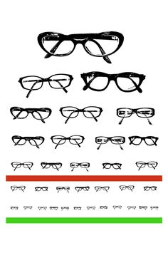 Eyeglasses Eye Chart... creative