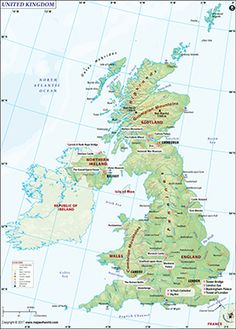 Map of Britain - Explore Great Britain map, the island is a part of United Kingdom of Great Britain and Northern Ireland. It consists England, Scotland and Wales. Map Of Great Britain, Kingdom Of Great Britain, Scottish Symbols, United Kingdom Map, England Map, Orkney Islands, Earth And Space Science, Travel Advisory, England And Scotland