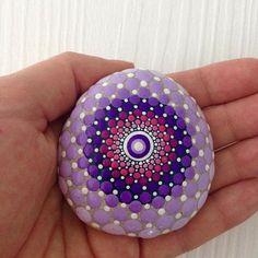 Dot Art Mandala Painted Stone Fairy Garden Gift Decoration