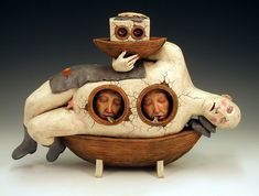 """The Tale of the Mariner's Toy Boat"" Glazed #ceramic. by Avery Palmer"