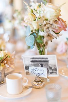 Using postcards for the table plan