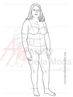 This is Carolyn. ❤️ print it to create your fashion designs on real bodies.  Esta es Carolyn. ❤️  Imprímela para crear tus diseños en cuerpos reales.   For more information visit: www.tracingrealbodymodels.org