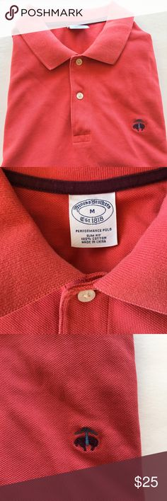 Brooks Brothers 100% cotton Men's Performance Polo Brooks Brothers 100% cotton Men's Performance Polo in Good Condition, no stains etc. the color Dusty Rose, Size M Slim Fit Brooks Brothers Shirts Polos