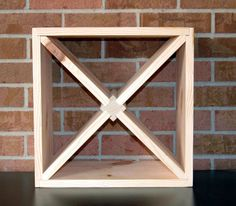 DIY 15 Wood Wine Rack Kit Square X Insert Kitchen by AllAboutHome