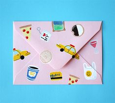 Happy Mail: NYC (Oh Happy Day!) Stationery Pens, Stationery Design, Envelopes, Carton Invitation, Little Presents, Fun Mail, Envelope Art, Paper Cards, 3d Cards