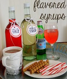 Easy Gift Idea: Flavored Syrups (with free printable labels) - The Shabby Creek Cottage