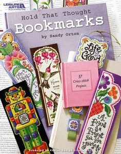 Hold That Thought Bookmarks, Cross Stitch
