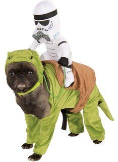 If the force is strong in your dog, get your pet a Star Wars dog costume for Halloween! Dress up your dog in fun Star Wars costumes. Costume Star Wars, Costume Chien, Pet Costumes, Weird Costumes, Animal Costumes, War Dogs, Halloween Costumes For Sale, Star Wars Halloween, Pets