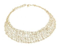 Alessandra Stabili Wire Crochet Jewelry: Gold Collection