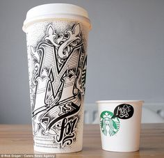 These artists have expressed their creativity on Starbucks coffee cups! Check out these brilliant designs.