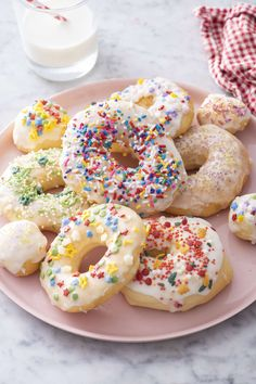 Air Fryer Donuts | Weelicious No Bake Treats, Yummy Treats, Delicious Desserts, Easy Desserts, Donut Recipes, Baking Recipes, Baby Recipes, Making Donuts, Natural Food Coloring