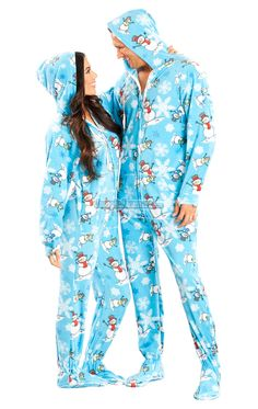 390673f2b7 These adult hooded footed pajamas are the ultimate sleepwear to stay warm  and snug.