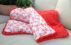 DIY Strickanleitung: Decke stricken // diy tutorial: how to knit a blanket via DaWanda.com