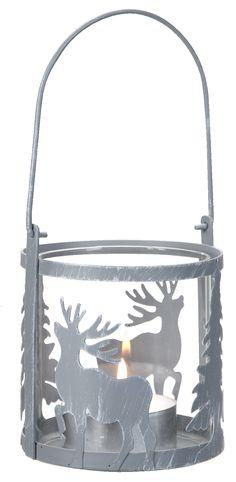 Instant kerstgevoel met deze stoere lantaarn met rendieren!