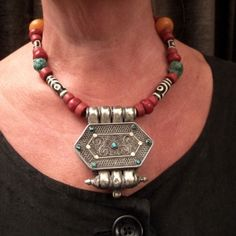 Another image of this necklace  with G'au...but worn...