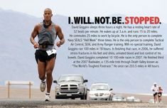 This makes my workouts and mile runs sound completely useless. Running Inspiration, Fitness Inspiration, Running Motivation, Fitness Motivation, David Goggins, Robert Greene, Gentleman Quotes, Mentally Strong, Gym Quote