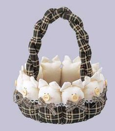 Fabric Crafts, Sewing Crafts, Sewing Projects, Projects To Try, Pig Baby Shower, Pig Crafts, Basket Crafts, This Little Piggy, Diy Arts And Crafts