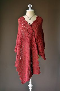 Click thru to Ravelry - Poppy Stole by Amy Gunderson in 5ply is FREE for the first week of May 2016