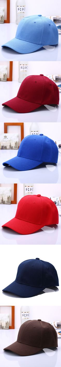 2017 Fashion Dad Hats Solid  Hat Men Outdoors Sport Baseball basketball Cap Journey snapback  Women hip hop visor caps 18 color