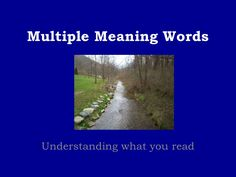 Multiple Meaning Words via Slideshare