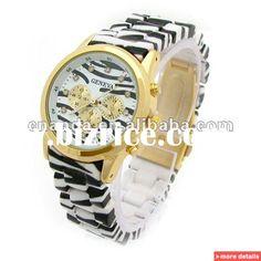 Zebra silver/gold Animal Print plastic quartz wrist watch / China Wristwatches for sale Safari Theme, Watch Case, Bracelet Watch, Quartz, Unisex, Wristwatches, Band, Silver, Plastic