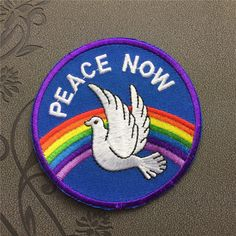 Peace Now patch Individuality Hat patches Embroidered Iron-On Patches sew on patches