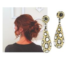 Celebrity stylist gardiropgurusu from Istanbul looks celestial in L' Dezen Jewellery ˊRubic ` earrings from the Fierce Collection.   If you are in Istanbul - make sure visit our retail partner Ülseven Mücevherat : www.ulseven.com.tr