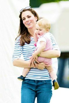 Cute Prince Geoge crying with Kate Duchess of Cambridge.