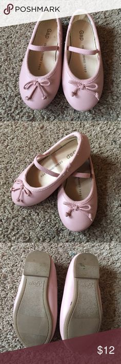 Pink gap ballet shoes Mary Janes 7 Adorable ballet flats with strap willow pink 7. Worn 1 time GAP Shoes Dress Shoes