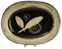 RARE SWISS STUDIO POTTERY PLATE BY MARGRIT LINCK