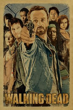 The Walking Dead cast poster with Rick Daryl by UncleGertrudes