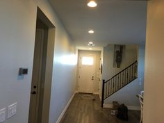 Az Recessed Lighting Installation Of New Led Lights In Hallway With A Dimmer