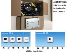 """Original System: Suit for all  Ford and  LINCOLN with SYNC 3 system as the picture(White background menu),Ford Edge, Fiesta,KUGA MAX (Hybrid),KUGA  (GAS),Taurus ,Mustang and F150,8"""" OEM monitor. Year: 2016-2017  Feature: Navi(with TMC base on internet)+IPAS+4 Video in+HD 1080p multimedia playback Built in canbus and support multi points touch screen and botton control Support Intelligent parking assist system(IPAS) Reverse camera auto trigger"""
