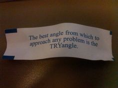 The best angle from which to approach any problem is the try angle.