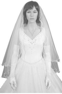 AMJ Dresses Inc 2 Tier White Bridal Wedding Veil Size Small ** Learn more by visiting the image link.-It is an affiliate link to Amazon. #BridalVeils