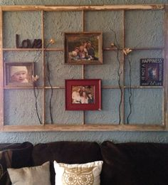 Old window frame used for #picture collage