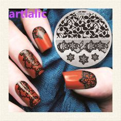 1pc Stamping Plate Cute Lace Flower Nail Template Beauty Polish Transfer DIY Manicure Tools E30