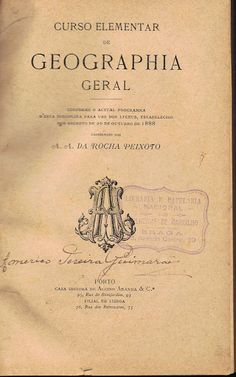 Curso Elementar de Geographia Universal | VITALIVROS // Livros usados, raros & antigos //