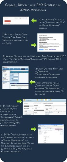 Google-, Web.de- & GMX-Kontakte in Zimbra importieren