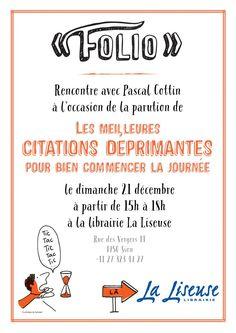 Pascal Cottin @VeilleCottin #Dédicace Dimanche 21 de 15h à 18h Librairie La Liseuse à #Sion avec P. Cottin @Folio_livres pic.twitter.com/vMYByq6YCa netvib.es/s/fPH8