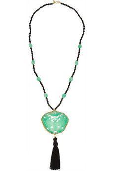 Kenneth Jay Lane Beaded resin necklace | NET-A-PORTER
