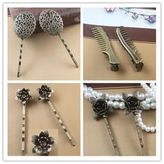 Woman lady Fashion Hairpins Hairgrip cute Retro vintage Hair Clips Headdress Headwear Barrette Head Hair Accessories for hair
