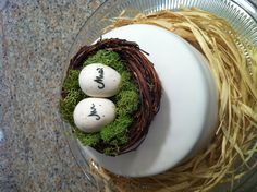 #Nest wedding cake topper for eco-friendly wedding ... Wedding ideas for brides & bridesmaids, grooms & groomsmen, parents & planners ... https://itunes.apple.com/us/app/the-gold-wedding-planner/id498112599?ls=1=8 … plus how to organise an entire wedding, without overspending ♥ The Gold Wedding Planner iPhone App ♥