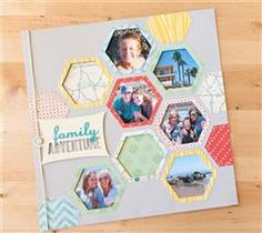 Create this amazing layout to showcase your family adventure! #cricut #craft #scrapbook