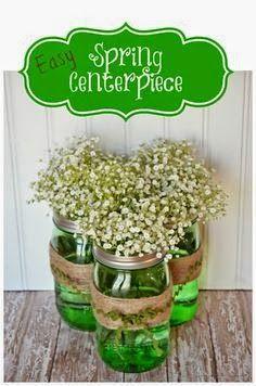 fiber optic st patrick 39 s day floral centerpiece floral. Black Bedroom Furniture Sets. Home Design Ideas