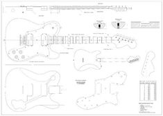 Full Scale Plans - Fender Telecaster Deluxe Electric Guitar - Technical Design Drawings by spirit flutes. $11.95. top view, side view, electronics diagrams, materials  mailed in large envelope