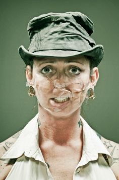 Distorted Scotch Tape Portraits by Wes Naman Wes Naman, Amazing Photography, Portrait Photography, Photography Humor, Photography Ideas, Tape Face, Just For Gags, Beauty Myth, Scotch Tape